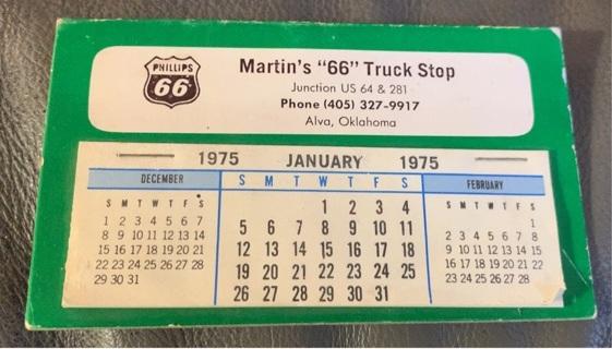 Vintage Philips 66 1975 Sun Visor Calendar