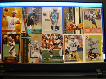 (10) Football Cards Stars, HOFers, Serial #'d or Inserts - LOT 5 - Read Details