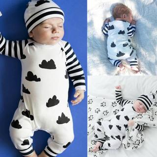 Baby Girl Boy Clothes Striped Cotton Bodysuit Romper Jumpsuit Outfits