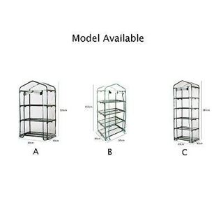 PVC Cover Plant Garden Green House Keep Warm Walk In Greenhouse Shelves Useful