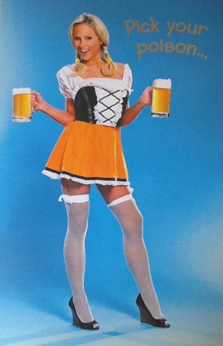 FREE NEW Blonde Beer Girl Birthday Card