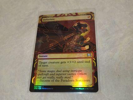 Magic the gathering mtg Infuriate foil card Strixhaven