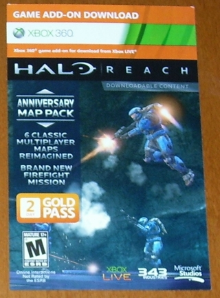 Free: Halo: Reach Anniversary Map Pack with 2-Day Gold Pass for Xbox
