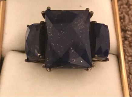 24 ct Lapis Lazuli silver ring
