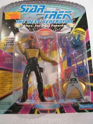 Star Trek Next Generation Geordi La Forge Figure, Playmates New Sealed 1992