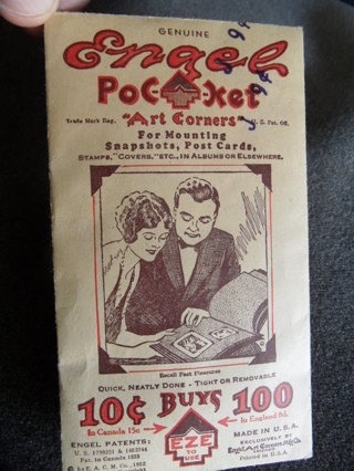 Antique (or almost) unopened bag of Engel Pocket Art Corners