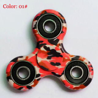 3D Camo Fidget Hand Spinner EDC Focus Toys ADD ADHD anxiety For Kids