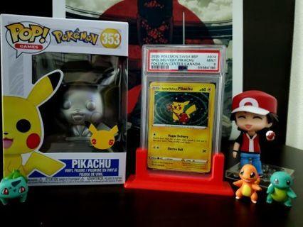 Pokemon Special Delivery Pikachu PSA 9 MINT - Black Star Promo (SWSH074) FUNKO POP