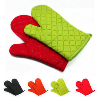 Kitchen Heat Resistant Glove Oven Pot Holder Baking BBQ Cooking Mitts Gracious