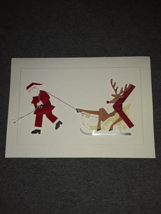 Christmas Card - Santa's Sled