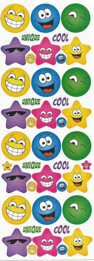 Smiley Stars & Faces - New : )