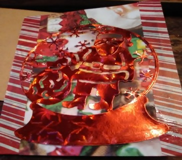 """ Christmas Water Globe"" Design Blank Note Card with Envelope"