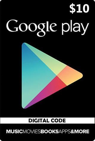 1 $10 Google Play Code $10 Online Code Download Games & Apps