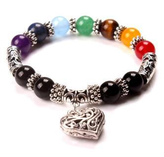 Men Women Natural Lava Rock Agate Bracelet Buddha Charm Gemstone Beads Bracelet