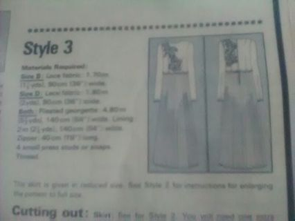 New 2 Unused Patterns. 3 Styles + 2 Styles Evening Dresses 5/6 Sizes