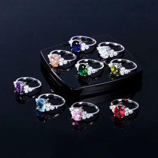 ✿Free Delivery✿ 925 Sterling Silver Zircon Oval Ring x1pc