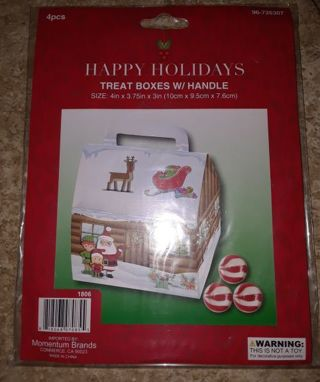 New! Holiday Treat Boxes and Sacks!
