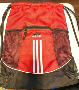 Red and Black Draw String Adidas Back Pack