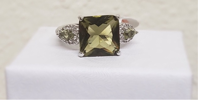 Smokey Peridot Ring New Size 6 *PLEASE READ DESCRIPTION*