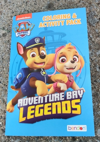 PAW PATROL SMALL COLORING BOOK AND ACTIVITY PAGES WITH 2 STICKER SHEETS USE YOUR OWN CRAYONS