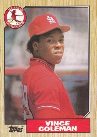 Vince Coleman 1987 Topps St. Louis Cardinals