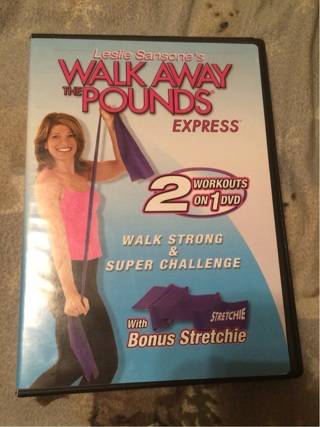 Walk away the pounds express with stretchie band by leslie sansone