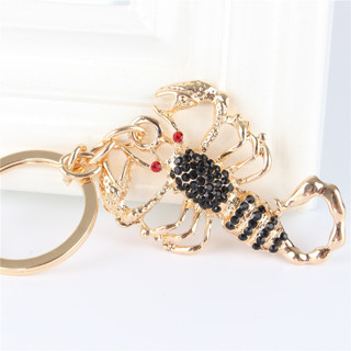 Lovely Scorpion New Cute Pendant Crystal Charm Purse Car Key Keyring Keychain Party Wedding