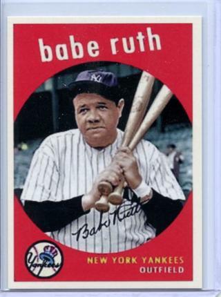 BABE RUTH - NEW YORK YANKEES - BASEBALL CARD - FREE SHIPPING !!!!