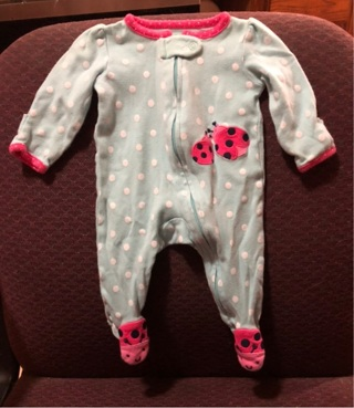 Just One You Baby Girls Sleeper with Built In Hand Covers SZ NB