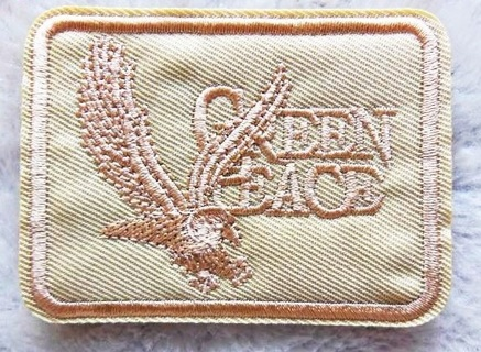 Green Peace IRON ON PATCH International Environmental Organization Applique FREE SHIPPING
