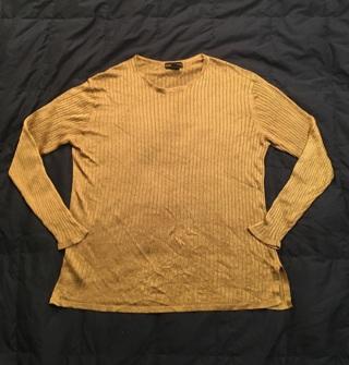 Banana Republic Metallic Thread Gold Shirt