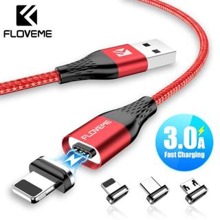 FLOVEME 3A Magnetic Charger Cable For iPhone Micro USB Type C Cable Magnet Fast Charging Charge Mi