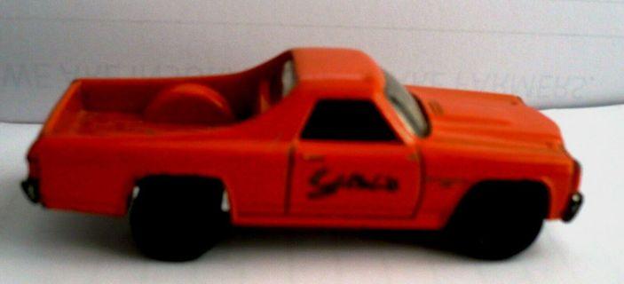 1970 Orange Matchbox Chevy El Camino Diecast Car 1:69 Scale