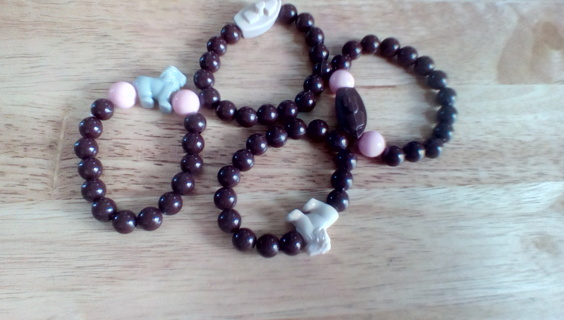 4 Handmade Kids Stretch Bracelets: New #3