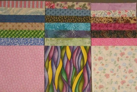 42 Fabric Charm Squares for Quilts - Set #3