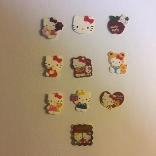 Sanrio Hello Kitty Sticker Flakes ~ 10 TOTAL ~ VERY KAWAII!!