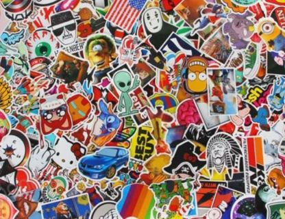 (10) Brand NEW Stickers *Luck of The Draw*10 NEW Random Pop Culture Sticker Art Music Movies Fashion