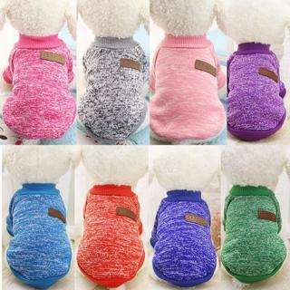 6 Colors Dog T-shirts Puppy Cat Sweater Coat Winter Dog Knitwear Clothes XS-2XL