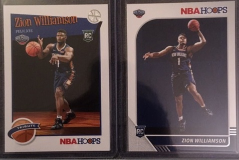 Zion Williamson Hoops Rookie Cards New Orleans Pelicans