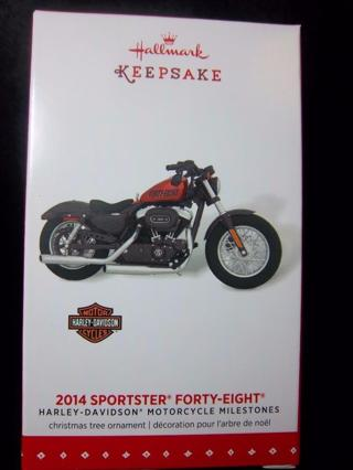 NEW - $17.95 Retail ~ Hallmark Keepsake 2014 Sportster Forty-Eight 12th in HARLEY-DAVIDSON Series