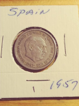 1957 Spain 5 Peseta! 192