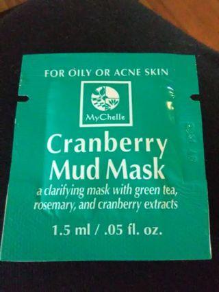 MyChelle Cranberry Mud Mask Sample #1