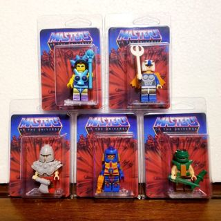 5 pieces = MOTU / HE-MAN MASTERS OF THE UNIVERSE > lego style mini figures w/customized packaging