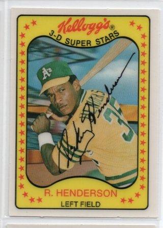 1981 Kelloggs Rickey Henderson