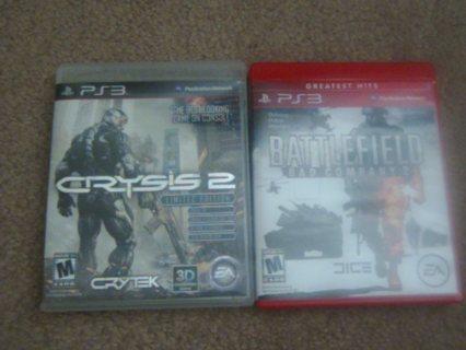 2 PS3 Games (Crysis 2, Bad Company 2)
