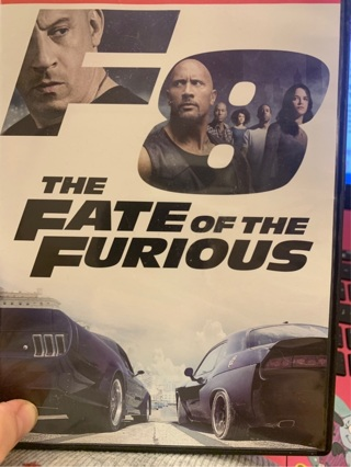 THE FATE OF THE FURIOUS (FAST & FURIOUS 8) DVD with Vin Diesel, Dwayne Johnson, Jason Statham