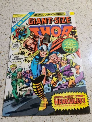 Giant Size Thor #1 1975 vintage comic book