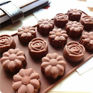 15 Cavity Silicone Rose Flower Chocolate Mold Cake Soap Candy DIY Fondant Mould