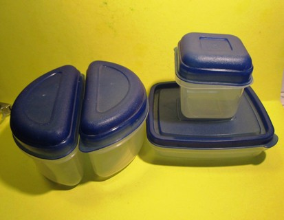 Set of 4 Small Food Storage Containers