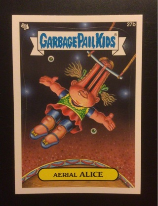 """2012 Topps Garbage Pail Kids Sticker Card #27b """"AERIAL ALICE""""  See the Photos for all details"""